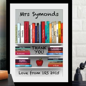Personalised 'Thank You Teacher' Art